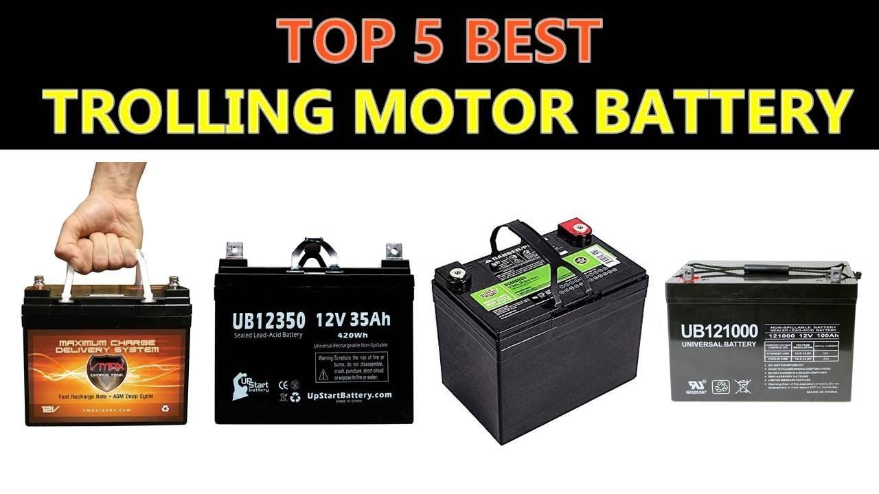 Best Trolling Motor Battery 2020 - YouTube