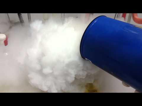 Liquid nitrogen and acetone
