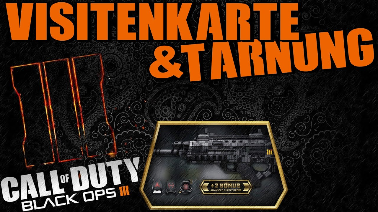 Call of Duty Black Ops 3 VISITENKARTE & TARNUNG INFO