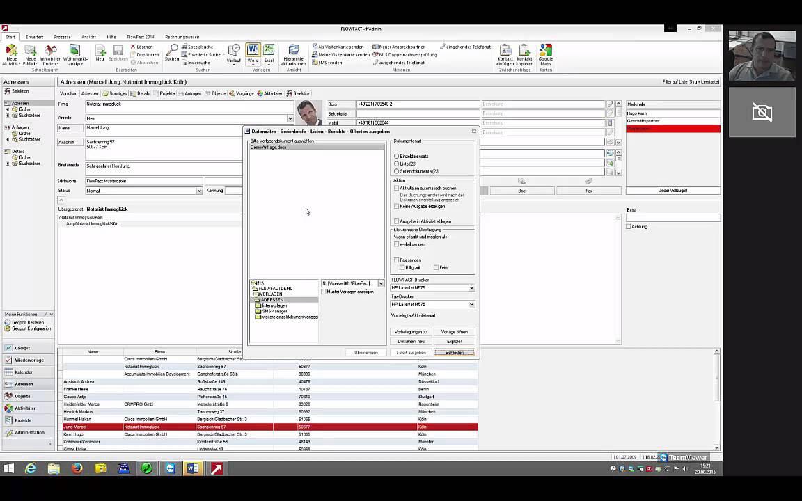 So erstellen Sie mit FlowFact Word und eMail Vorlagen - YouTube