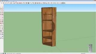 Draw a corner cupboard with SketchUp