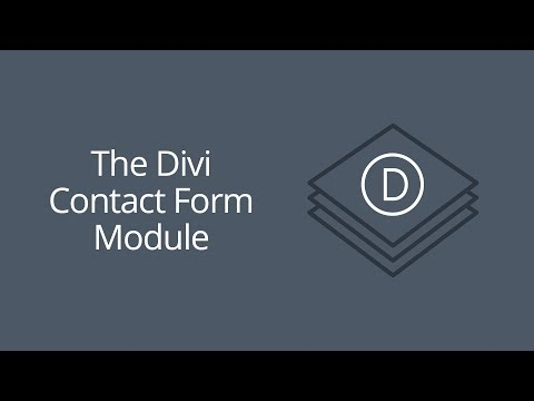 The Divi Contact Form Module