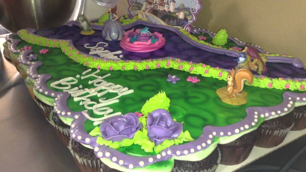 Sofia The First Cupcake Cake Part 5