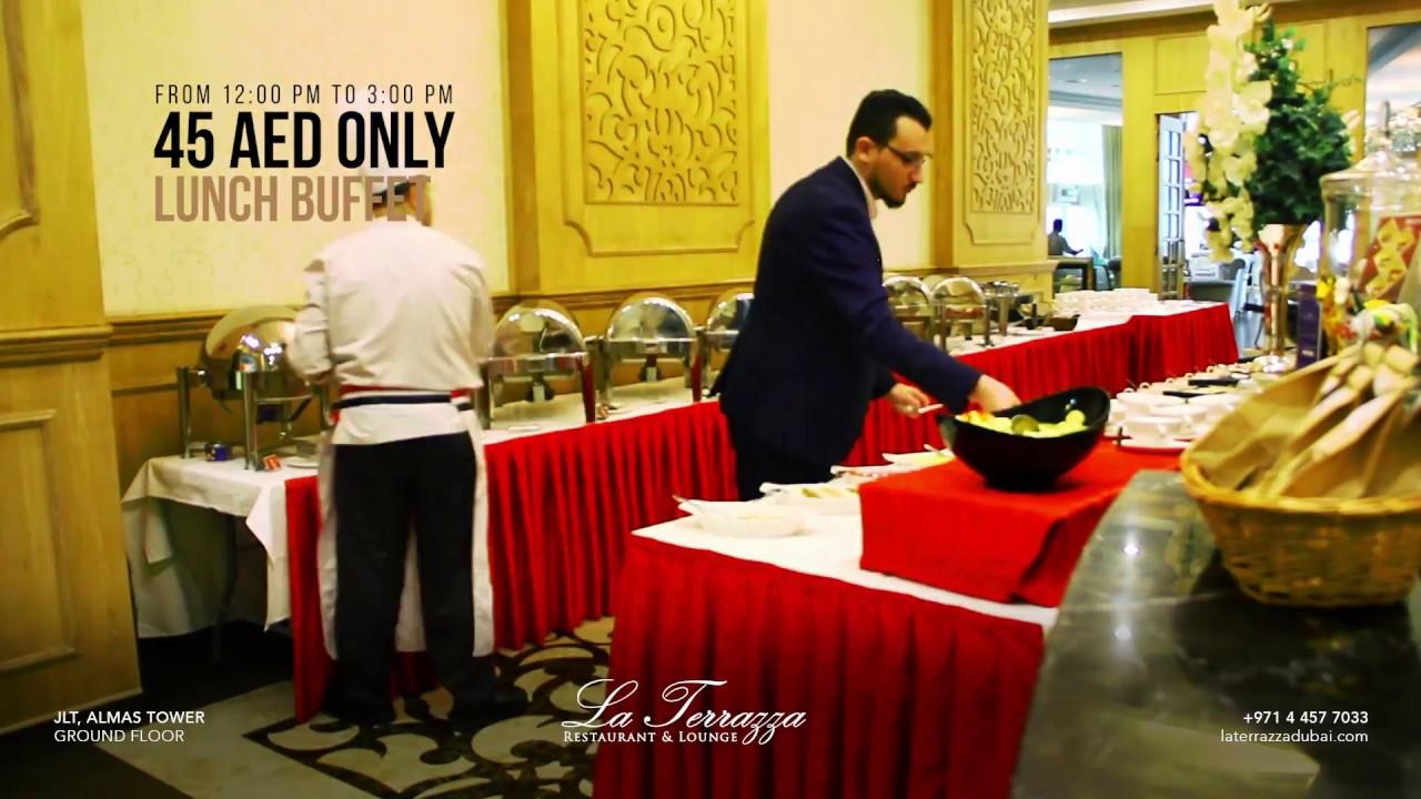 Lunch Buffet 45aed La Terrazza Jlt Dubai Youtube