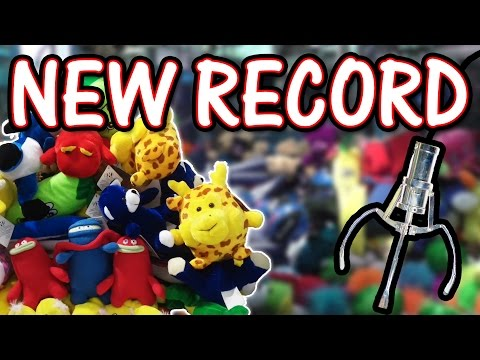 NEW Claw machine RECORD, 35 wins! - Claw Machine Wins
