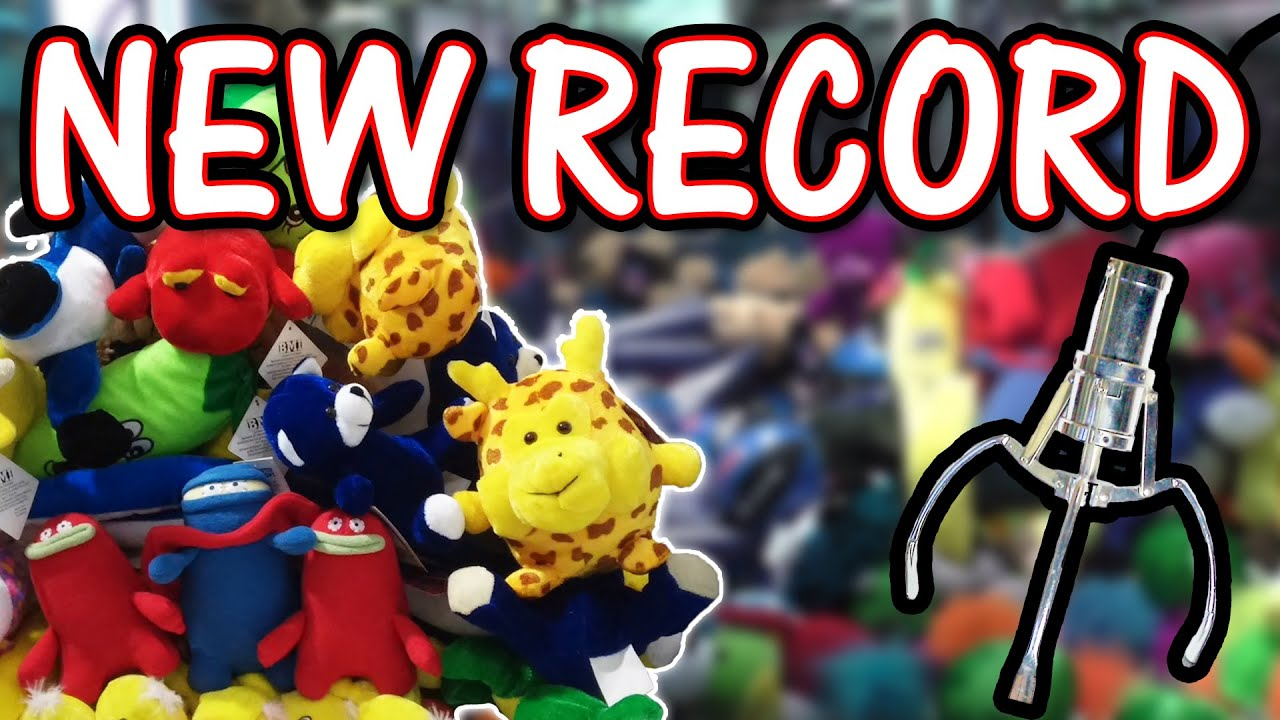 NEW Claw machine RECORD 35 wins  Claw Machine Wins  YouTube