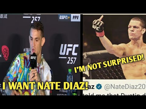 DUSTIN POIRIER CALLS OUT NATE DIAZ AFTER KNOCKING OUT CONNOR MCGREGOR AT UFC 257. WOULD YOU WANT IT? |