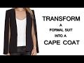DIY Cape Coat 2 How to transform a Suit into a Cape Coat Hindi