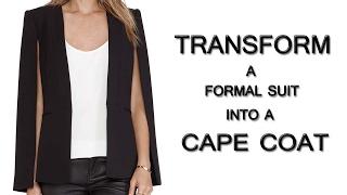 DIY Cape Coat 2 - How to transform a Suit into a Cape Coat (Hindi)