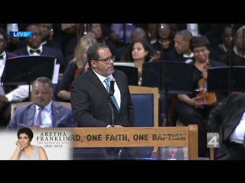 Michael Eric Dyson speaks at Aretha Franklin funeral service ...