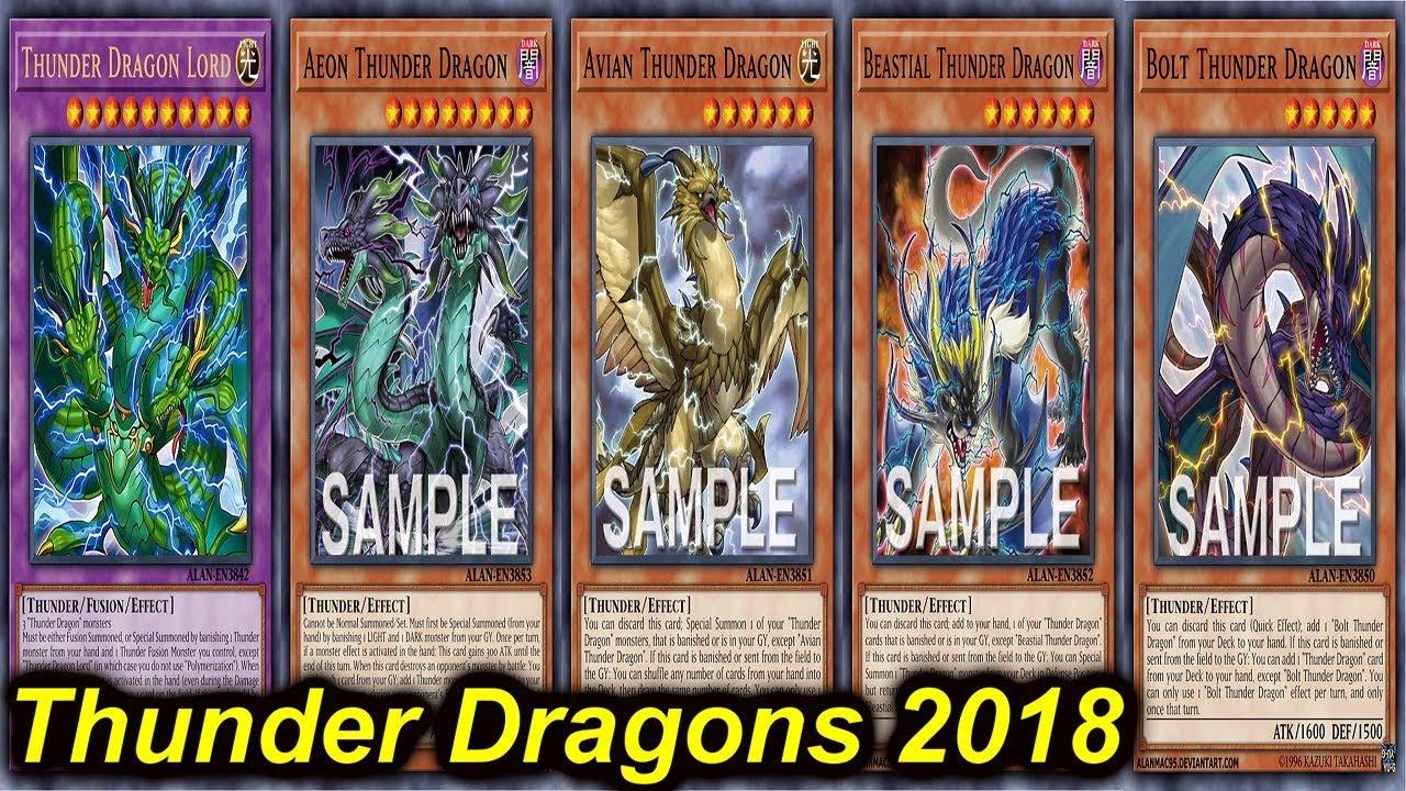【YGOPRO】THUNDER DRAGON DECK 2018 - YouTube