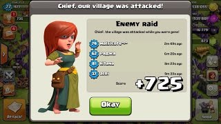 +725 TROPHIES DEFENSE IN 1 HOUR! CLASH OF CLANS FASTEST TROPHIES ON DEFENSE! BASE PROOF/REPLAYS!
