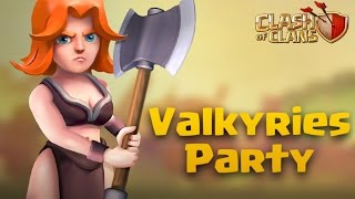 TH9 War Attack | Valkyries Party Part 33 | Clash Of Clans
