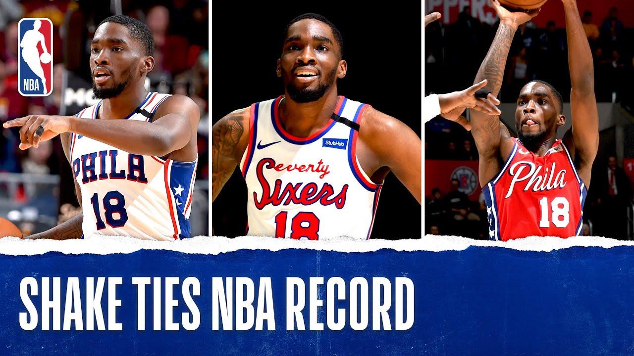 Shake Milton ties NBA record for consecutive threes made
