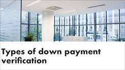 Types of down payment verification
