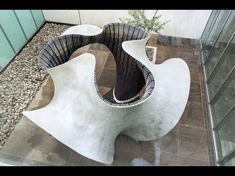 Zaha Hadid Architect's KnitCandela Construction Process