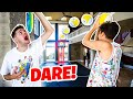 CRAZY Long SHOT Mini Hoop Battle - WITH INSANE FORFEITS