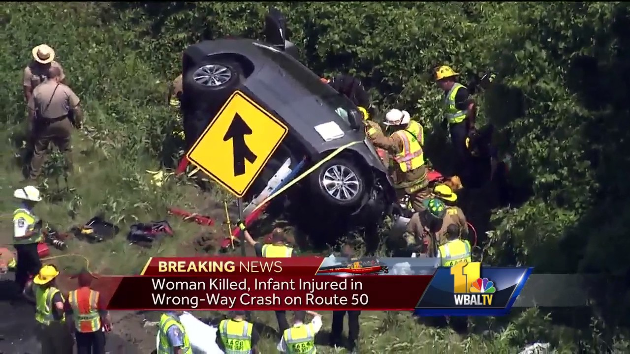 Video: 1 dead, 2 injured in wrong-way crash on Route 50