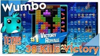 Tetris 99 - 38 Kill #1 Victory Royale - Wumbo