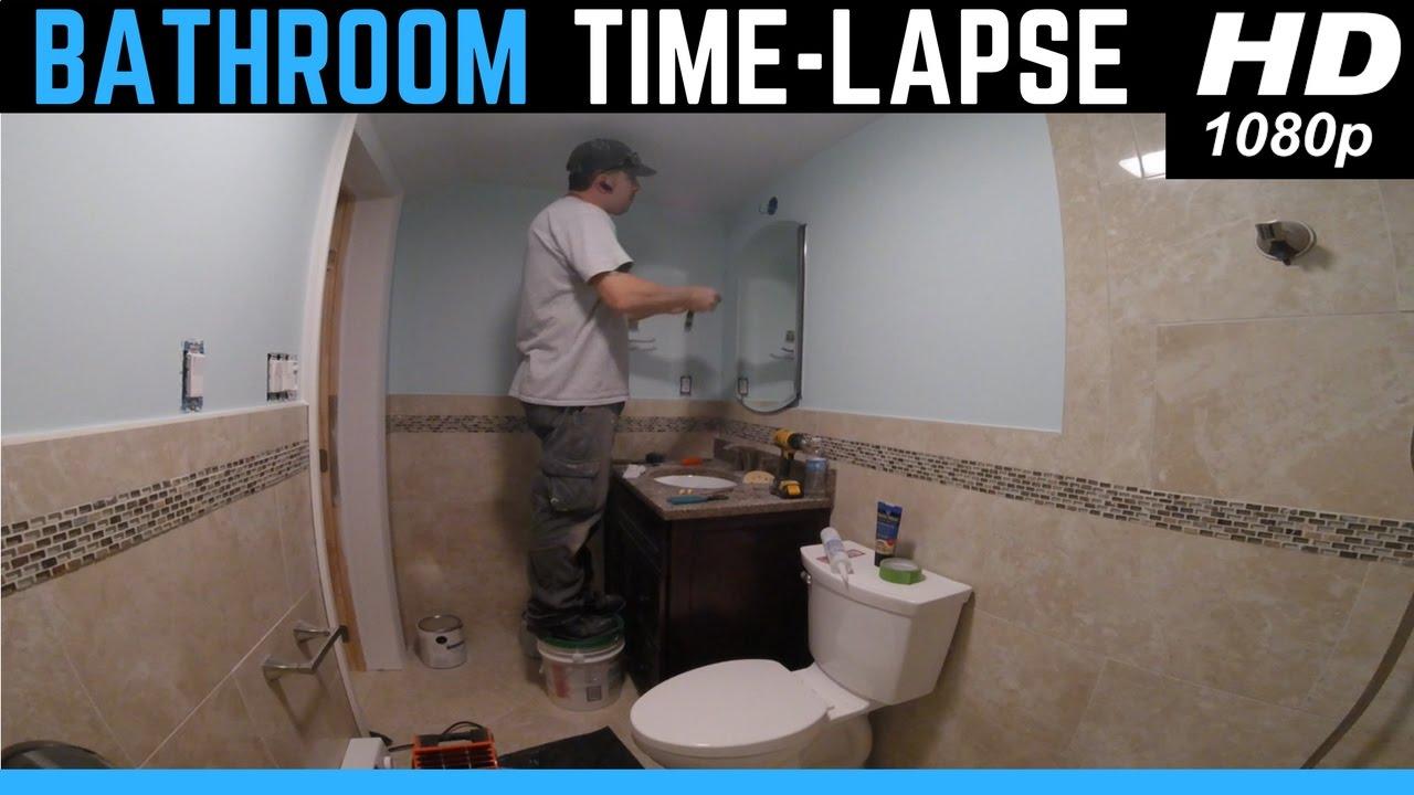 Bathroom Timelapse Complete Renovation Start To Finish YouTube - Starting a bathroom renovation