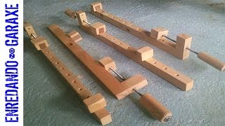How to make wooden bar clamps for woodworking
