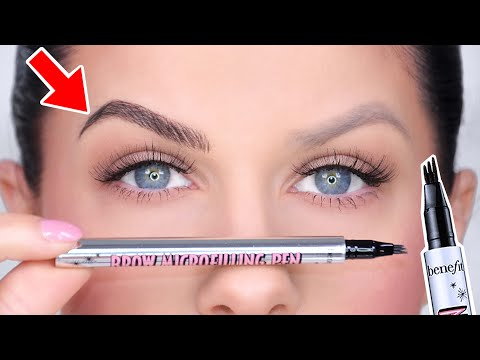 NEW BENEFIT MICROBLADE BROW PEN! MICROBLADE BROWS AT HOME?? DOES IT WORK!?