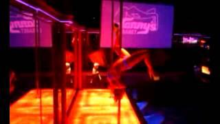 Stripper couple pole tricks
