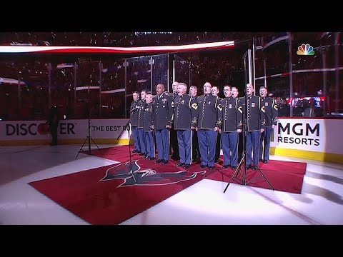 VGK@WSH, Gm4: Green and McDonald sing the anthem
