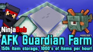 afk guardian farm 1000s of prismarine shards crystals fish ink minecraft ps4 ps3 xbox