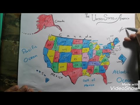 How To Draw United States Map Easy🇺🇸 Step-by-step
