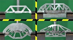 Which is the Strongest Steel Bridge Design?  Hydraulic Press Test!