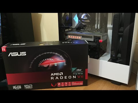 Радеон 7 Вега 2 Radeon VII Vega 2 Распаковка и обзор видеокарты