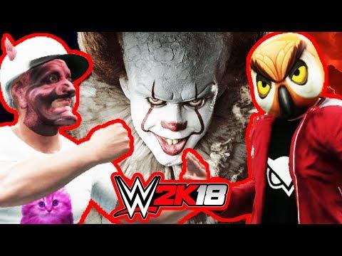 Vanoss & Wildcat vs. Pennywise & clowns | WWE 2K18 | S9E6 The Psycho Circus