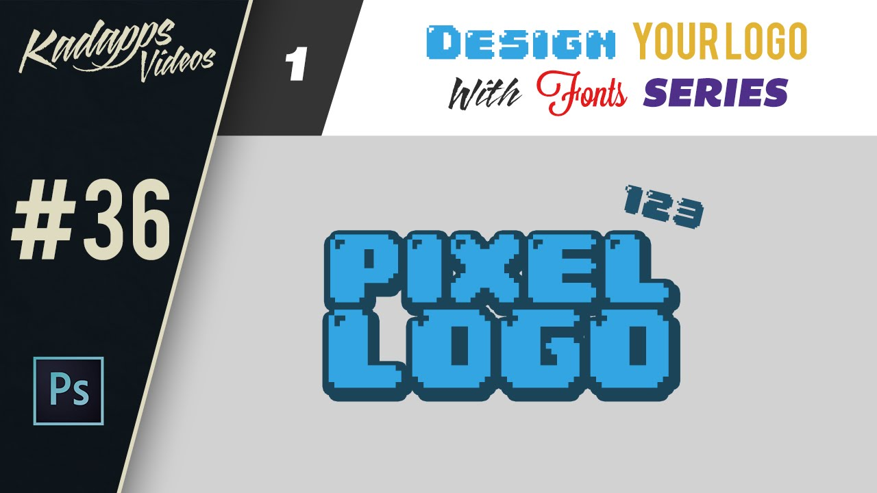Pixel Art Logo Design - Photoshop Tutorial