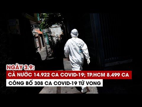 Ngày 3/9: Cả nước 14.922 ca Covid-19, 11.344 ca khỏi   TP.HCM 8.499 ca