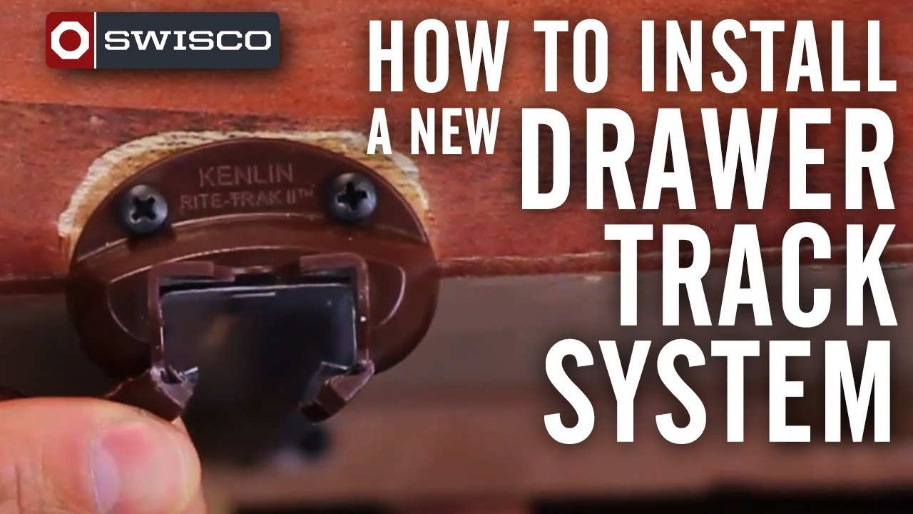How to install a new drawer track system