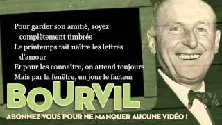 Bourvil - Tiens, vla le facteur - Paroles (Lyrics)