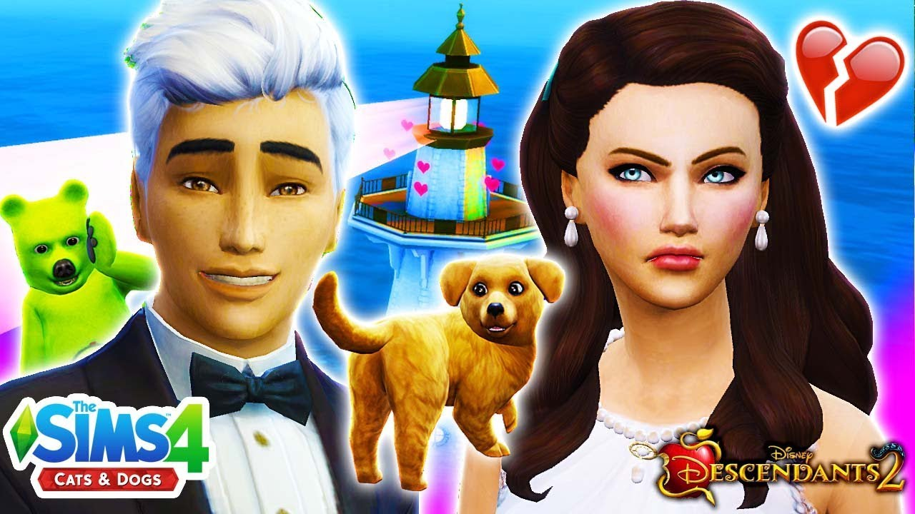 DESCENDANTS 2 Sims 4 #36! 🐶CARLOS AND JANE GET MARRIED BUT SOMETHING'S  WRONG😱 Disney's Descendants