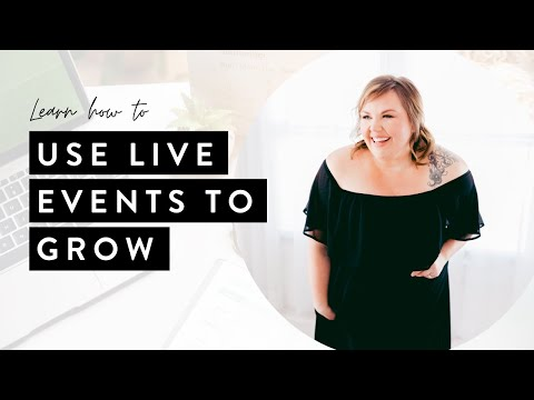 Using LIVE EVENTS to Grow Your Virtual Assistant Business