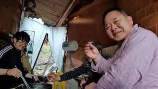 귀촌인 생활집에서 생송이버섯, 쑥갓튀김, 찔래순과 낙지…