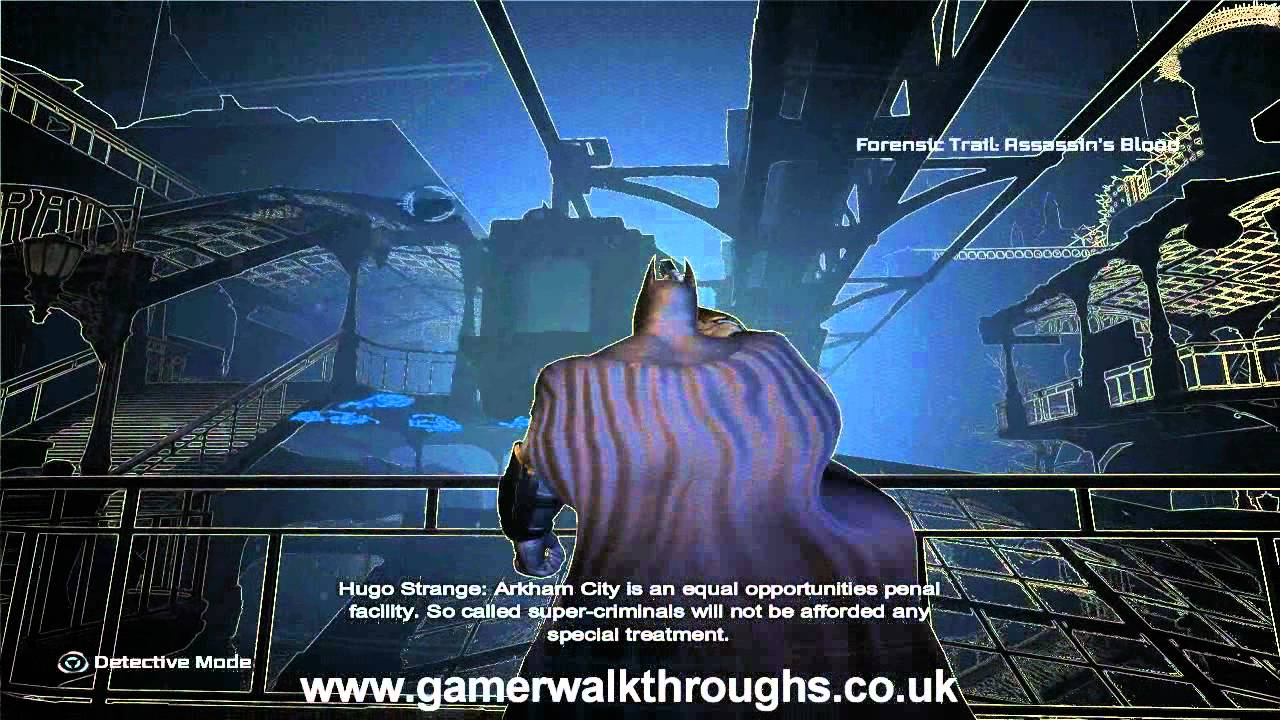 Batman: Arkham City walkthrough - Line Launcher - YouTube