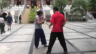 Grandmaster Samuel Kwok training in Hong Kong with SIMON Kook IP MAN 3  Thai actor