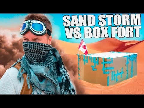 BOX FORT VS DESERT SANDSTORM!! 📦