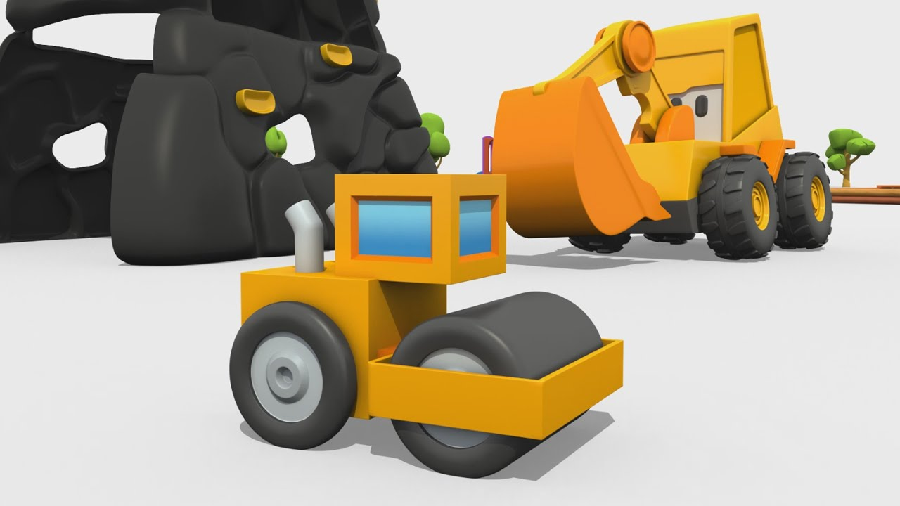 Cartoni animati per bambini max l escavatore come si