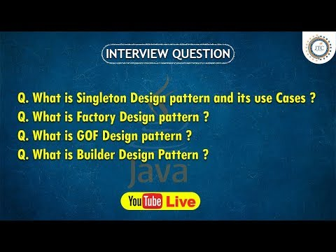 Session-26 || 9:30PM Live || Design Patterns In Java || Singleton || Java Interview Question by JTC