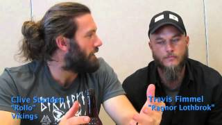 "SDCC 2014: Clive Standen ""Rollo"" & Travis Fimmel ""Ragnor"" from Vikings"