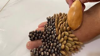 Remove footprints with durian seeds