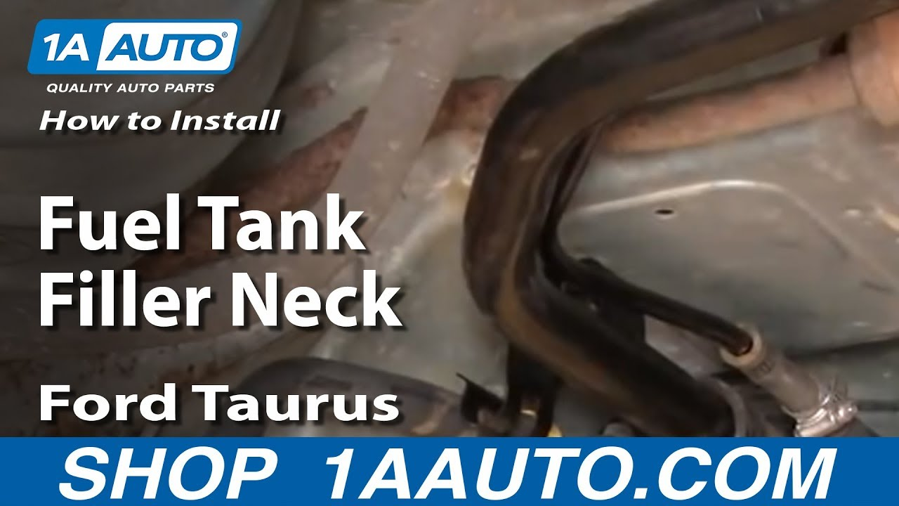 How to Replace Fuel Tank Filler Neck 9807 Ford Taurus  YouTube