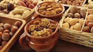 Картинка еда. Орехи, арахис, фундук, миндаль, грецкий орех, ассорти.