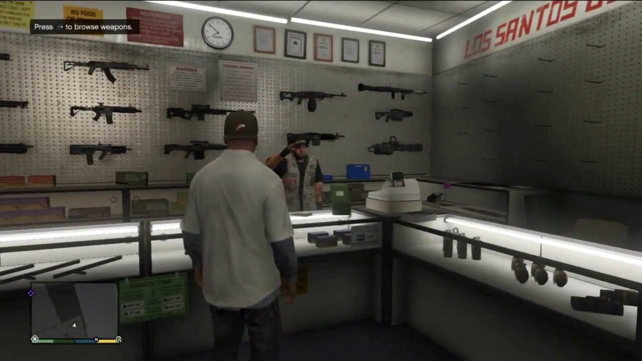 Guns Gta Gta v Gun Shop Footage